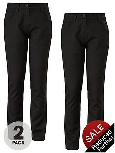 top-class-girls-jeans-style-trousers-2-pack