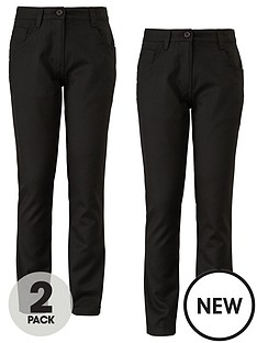 top-class-girls-jeans-style-trousers-pack-of-2