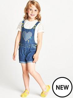 ladybird-toddler-girls-heart-applique-short-dungarees-and-schiffli-t-shirt