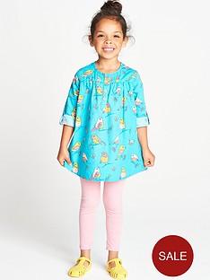 ladybird-toddler-girls-poplin-bird-tunic-and-leggings