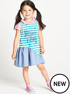 ladybird-toddler-girls-slogan-curved-hem-dress