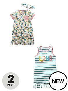 ladybird-toddler-girls-fringe-detail-dresses-and-headband-2-pack