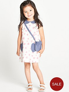 ladybird-toddler-girls-pink-heart-and-chambray-shift-dress-with-bag