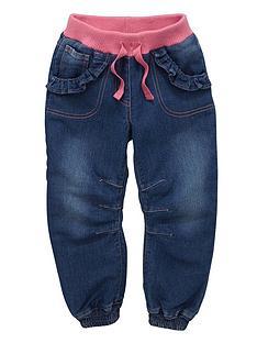 ladybird-toddler-girls-rib-cuffed-jeans