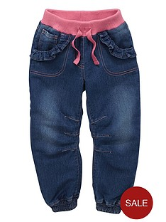 ladybird-toddler-girls-rib-cuffed-jeans