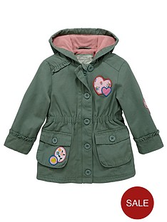 ladybird-toddler-girls-fleece-khaki-parka-with-hood