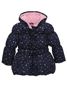 ladybird-toddler-girls-star-print-belted-wadded-coat