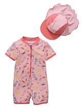 Toddler Girls Beach Girl Sunsafe and Hat
