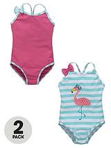Toddler Girls Flamingo Costumes with Bows 12-18 months to 2-7 years (2 Pack)