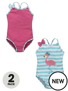 ladybird-toddler-girls-flamingo-costumes-with-bows-12-18-months-to-2-7-years-2-pack