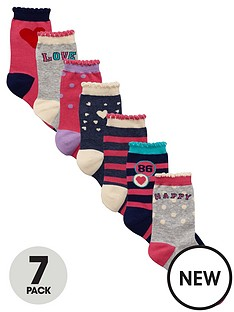 ladybird-girls-fashion-socks-7-pack