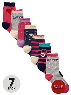 ladybird-girls-fashion-socks-7-pack