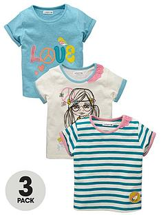 ladybird-toddler-girls-short-sleeved-love-tops-3-pack
