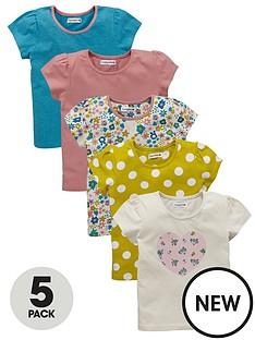 ladybird-toddler-girls-floralheart-print-t-shirts-5-pack