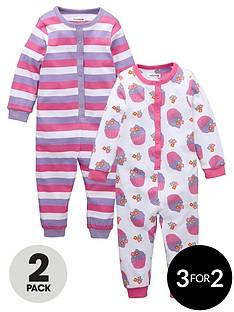 ladybird-toddler-girls-cupcake-sleepsuits-2-pack