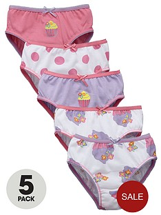 ladybird-toddler-girls-cupcake-knickers-5-pack