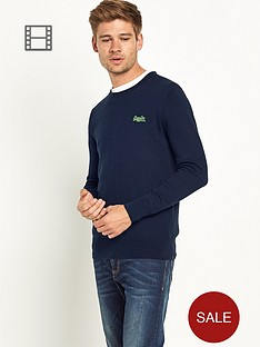 superdry-mens-orange-label-crew-neck-jumper