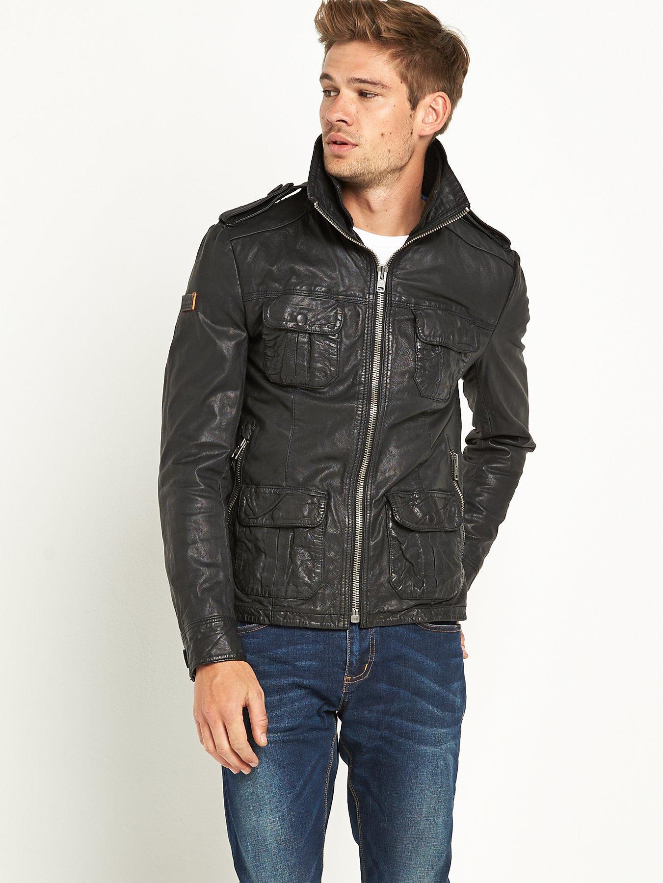 Leather jacket superdry - Superdry Brad Leather Jacket Superdry Brad Leather Jacket