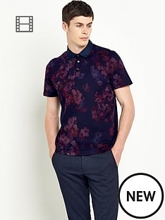 ted-baker-mens-floral-print-polo-shirt