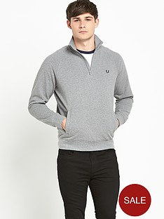 fred-perry-pique-half-zip-sweat-top