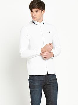 Fred Perry Mens Long Sleeve Twin Tipped Polo Shirt