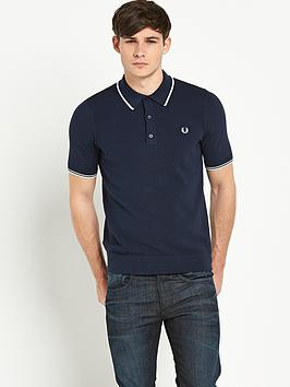 Fred Perry Mens Knitted Polo Shirt