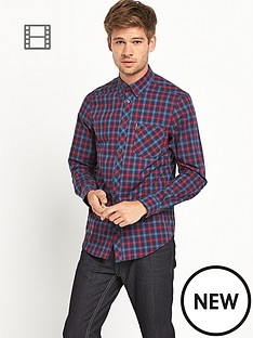ben-sherman-mens-long-sleeved-check-shirt