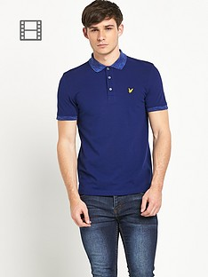 lyle-scott-mens-space-dye-collar-polo-shirt