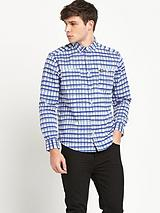 Mens Hand Drawn Check Shirt