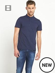 goodsouls-mens-navy-short-sleeve-jersey-polo-top