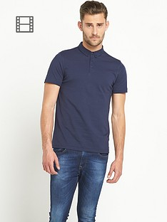 goodsouls-mens-navy-short-sleeve-jersey-polo-top
