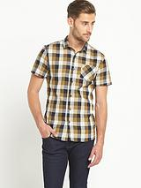 Mens Short Sleeve Check Shirt - Multi
