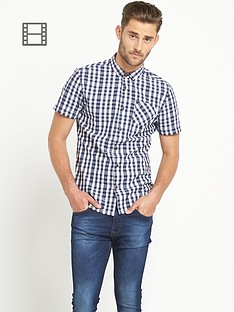 goodsouls-mens-short-sleeve-opp-check-shirt-blue