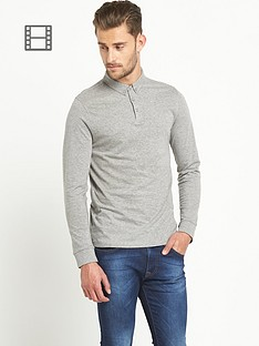 goodsouls-mens-long-sleeve-jersey-polo-top-grey-marl
