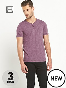 goodsouls-grandad-t-shirt-3-pack-burgundykhakicharcoal