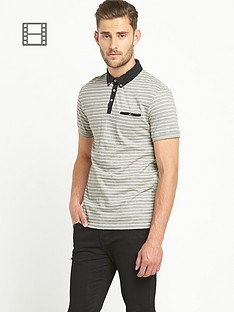 goodsouls-mens-jacquard-short-sleeved-polo-shirt