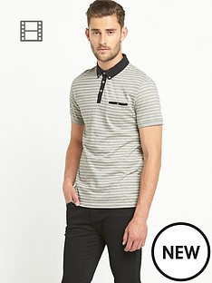 goodsouls-mens-jacquard-short-sleeved-polo-top