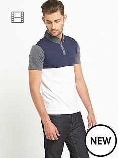 goodsouls-mens-short-sleeved-colour-block-polo-top