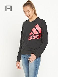 adidas-logo-sweatshirt