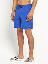 Mens Solid Mid Length Shorts