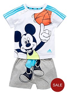 adidas-baby-boy-disney-shorts-set