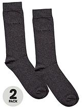 Mens Plain Socks (2 Pack)