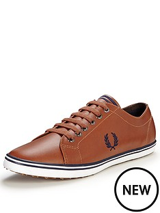 fred-perry-kingston-leather-plimsolls-tan
