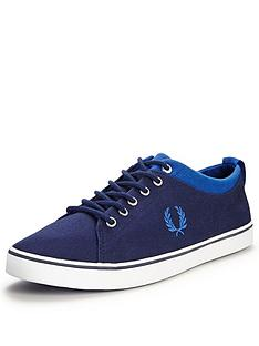 fred-perry-hallam-twill-plimsolls-carbon-blue