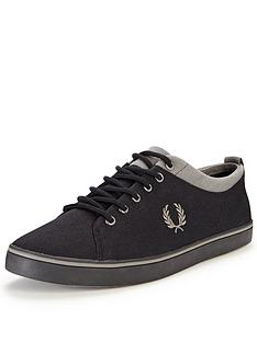 fred-perry-hallam-twill-plimsolls-black