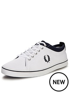 fred-perry-hallam-twill-plimsolls-white