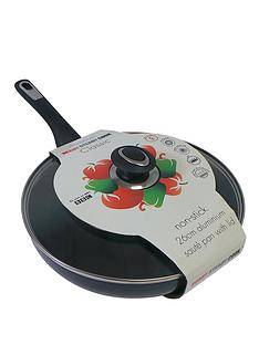 ready-steady-cook-classic-26-cm-non-stick-aluminium-saute-pan-with-glass-lid