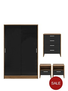 porto-4-piece-package-2-door-slider-wardrobe-4-drawer-chest-and-2-bedside-cabinets