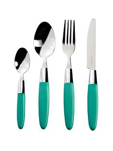 viners-fondant-16-piece-cutlery-set-emerald-green