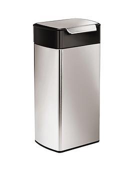 simplehuman-30-litre-steel-touch-bar-bin-black